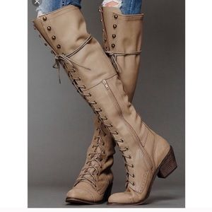 Jeffrey Campbell x free People joe lace up boots